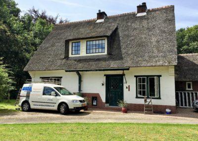 Buitenschilderwerk PWN Boswachtershuisje in Heemskerk