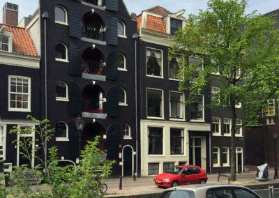 Buitenschilderwerk grachtenpand Boomsloot Amsterdam