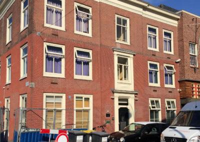 Buitenschilderwerk monumentaal pand Kruisweg Haarlem